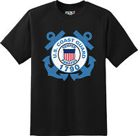 Anchor US Coast Guard Semper Paratus Patriotic Gift T Shirt New Graphic Tee