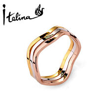 New Arrival 3Pcs Ring Set For Women Include 3 Color Rings Top Quality
