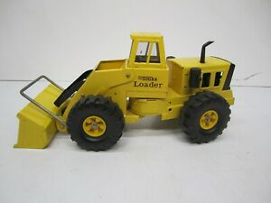 Vtg Mighty Tonka Pressed Metal Steel Toy Front End Loader Yellow Construction