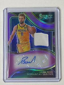2020-21 Select Basketball DOMANTAS SABONIS autograph jersey game worn #48/99