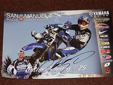 "NATHAN RAMSEY #25 AUTOGRAPHED SUPERCROSS MOTOCROSS RACING POSTER 17"" X 11"" NEW"