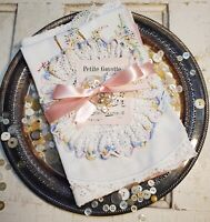 Vintage Linen Bundle ' French Pink ' Cutting and Crafting Bundle - 7 Pieces