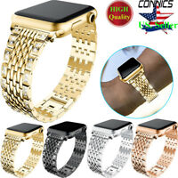 Bling Diamond Metal Watch Band For Apple Watch 5 4 40/44MM Stainless Steel Strap