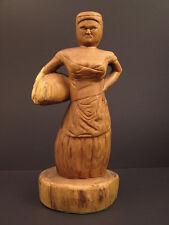 Naive Americana Folk Art Working Woman Figure, Signed Herb Burgess, 1981, 18 3/4