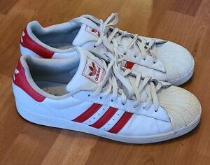 Adidas Originals Superstar II White Red Leather Shoe Men's Sz 13 G43681