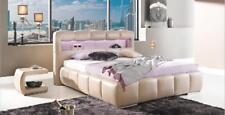 Wasserbett Wasser Polster Leder Bett Betten Polsterbett CARRERA LED mit Matratze