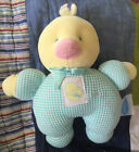 Eden+Toys+7%22+Duck+Duckling+Plush+Baby+Toy%2C+rattle%2C+green+waffle+weave