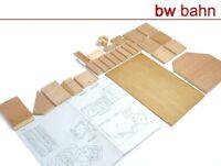 HBZ 1:72 Bunker Casemate Holzmodellbausatz Holzbausatz Bausatz Militär Neu