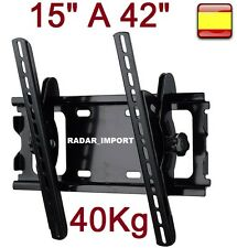 "Soporte para tv Plano lcd led plasma universal monitores de 15"" a 42"" inclinable"