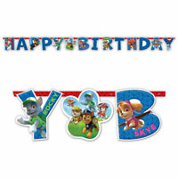 Paw Patrol Childrens Happy Birthday Letter Banner Decoration Puppy Party Bunting