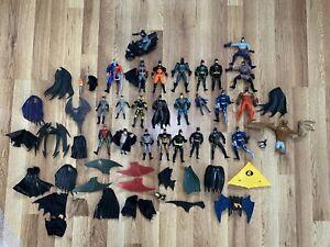 HUGE LOT 1980s 1990s KENNER DC COMICS BATMAN BATWOMAN ROBIN ACTION FIGURE LOT