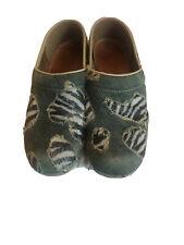 Dansko Denim Zebra Clogs 39