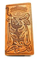 Jack Daniels Embossed Rodeo / Roper Style Wallet Tooled Leather - New in Tin
