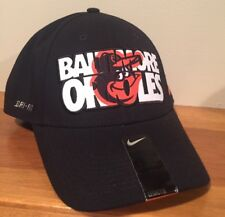 Baltimore Orioles New MLB Nike Verbiage Flex Fitted Hat Medium/Large M/L $28