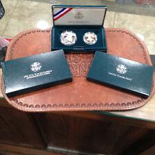 1995-S Civil War Battlefield Commemorative Silver Proof 2 Coin Set Box