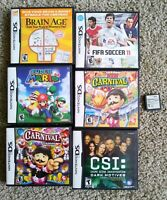 Nintendo DS Game Lot Of 7, Super Mario, Carnival Fifa, 007