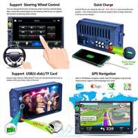 "7"" Doppel 2Din Autoradio Touchscreen GPS Navi Bluetooth MP5 + Rückfahrkamera Hot"