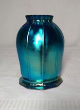 """BLUE FAVRILE, AURENE, ART GLASS SQUASH BLOSSOM LIGHTING SHADE, 2 1/4"""" FITTER~~"""