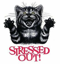 STRESSED OUT CAT  T-SHIRT IN MANY COLORS 728
