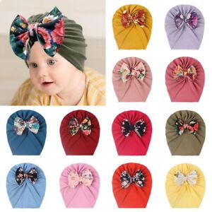 Cute  Newborn Baby Cap Bow Hat Hedging Cap Indian Hat Floral Bow Tie Baotou Caps