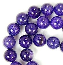 6/8/10mm Natural Dragon Veins Agate Onyx Gemstone Round Loose Beads 15'' Strand
