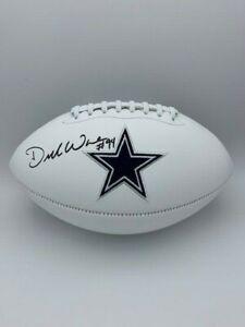 DeMarcus Ware Signed Dallas Cowboys Full Size White Panel Football COA Hologram