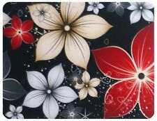 Red white and Yellow Flowers and leaves premium Mouse mat