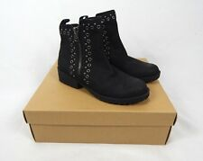 c14d4ded373f Lucky BRAND Hannie Leather Double Zip up Ankle BOOTS Black Size 6m