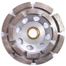 """4"""" Double Row Concrete Diamond Grinding Cup Wheel 16 Segs - 7/8""""-5/8"""" Arbor"""