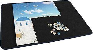 Jigsaw Puzzle Board Portable Puzzle Mat for Puzzle Storage Saver (Blue/Black)