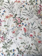 JOHN LEWIS - WILD FLOWER WHITE AND PINK COTTON LAWN - BY THE METRE