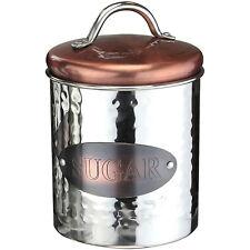 Vintage Copper Tea Coffee Sugar Jars Kitchen Storage Canister Air Tight Lid