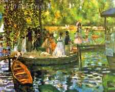 La Grenouillere by Auguste Renoir - Seine River Boats 8x10 Print Picture 1634