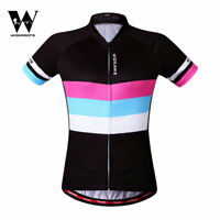 Ladies Short Sleeve Cycling Jersey Women Breathable Sports Tops Bike Clothing
