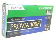 5 X Fuji Fujichrome Provia 100f 120 Film Not Kodak Fridged