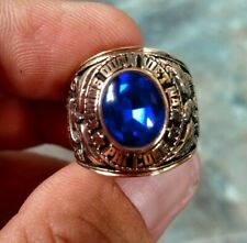 South Vietnam Army AIR FORCE ACADEMY Rings 1972 Gold 10k Sapphire  size 11
