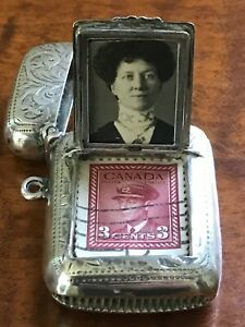 Rare Antique Sterling Silver Vesta Case Match Safe William Oliver Birmingham