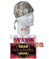 DIGITAL ACU CAMO DESERT LINED DO DOO RAG FITTED Tied BANDANA Skull Head Wrap