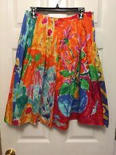 Ralph Lauren Multi Color Floral Skirt Cotton Size 6