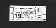 RARE 1970 Philadelphia boxing ticket Narvaez Evans Baerga Tomlin Judge Pittman