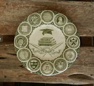 "Vintage 12 Universities 'The American College Plate' 10"" Transferware Fenton"