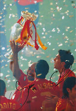 Alvaro ARBELOA Marcos SENNA Dual Signed Autograph Photo AFTAL COA Spanish Winner