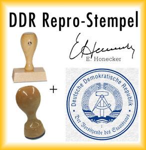DDR Stempel - 2er Set - Stasi - Erich Honecker + Kissen