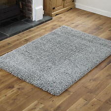 BEST QUALITY SHAGGY 40x60 cm SIZE NON SHED RUG SOFT 5CM THICK SILVER SMALL RUG