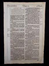 1611 KING JAMES BIBLE LEAF PAGE * BOOK OF EZEKIEL 20:1-44 * REBELLION OF ISRAEL*