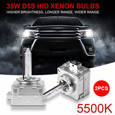 2Pcs D5S 5500K 35W Xenon HID Replacement Head Lamp Light Bulbs Conversion Bright