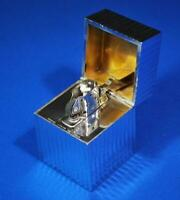 Tiffany & Co. Rare Squared Engine Turn Table Lighter Sterling Silver 925 1960's