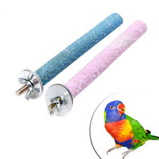 Colorful Pet Bird Parrot Chew Paw Grinding Toys Harness Cage Budgie Clean Tool