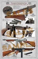 Mitra inerte Thompson M28 Submachine M1928 USA 1918 reenactor in metallo legno