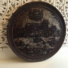 VINTAGE CADBURYS ANCIENT LONDON SWEET CHOCOLATE BISCUIT TIN WALL ART